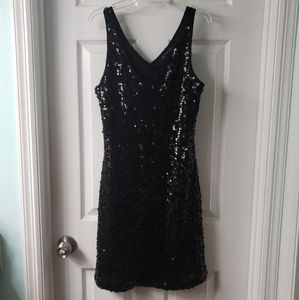 NWT INC Black Sequin Dress